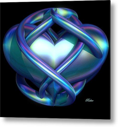 Heart Metal Print featuring the digital art Captured Heart by Sara Raber