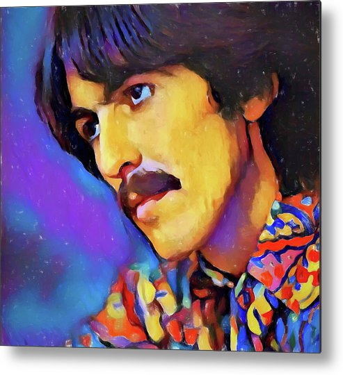 George Harrison Metal Print featuring the painting George Harrison by Dan Sproul