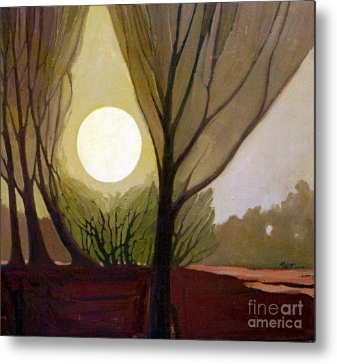 Dreamscape Metal Print featuring the painting Moonlit Dream by Donald Maier