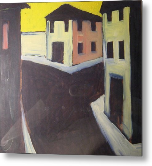 Metal Print featuring the painting Streets by Biagio Civale