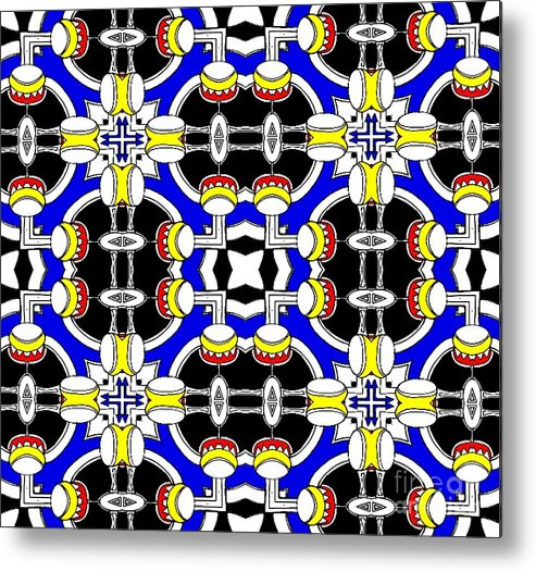 Kaleidoscopic Tribal Metal Print featuring the digital art The Sound Of The Drums by Graham Roberts