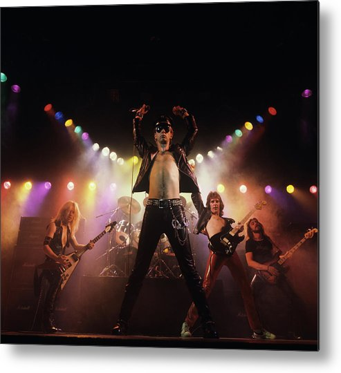 People Metal Print featuring the photograph Judas Priest Album Cover Shoot by Fin Costello