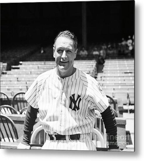 First Baseman Metal Print featuring the photograph Lou Gehrig by Bettmann