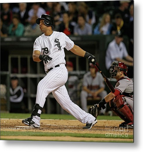 American League Baseball Metal Print featuring the photograph Arizona Diamondbacks V Chicago White Sox by Jonathan Daniel