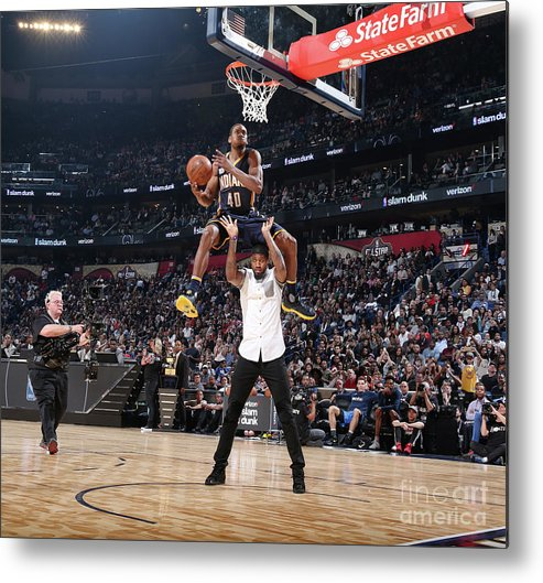 Event Metal Print featuring the photograph Verizon Slam Dunk Contest 2017 by Nathaniel S. Butler