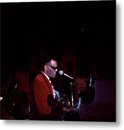 Music Metal Print featuring the photograph Photo Of Ray Charles by David Redfern