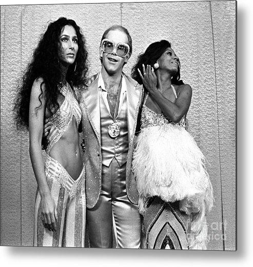 Cher Metal Print featuring the photograph Mark Sullivan 70s Rock Archive by Mark Sullivan
