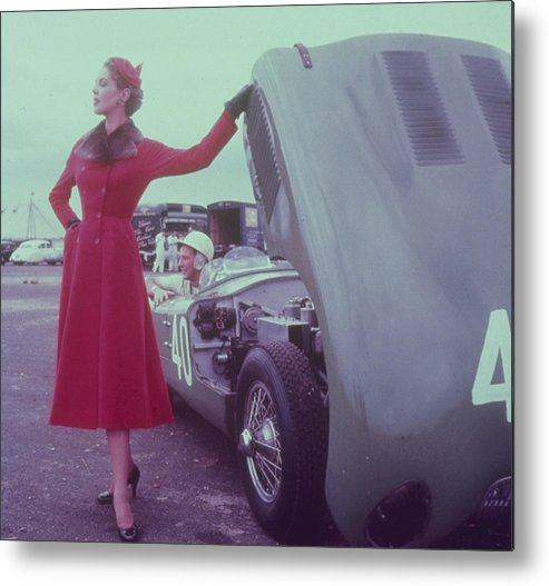 1950-1959 Metal Print featuring the photograph Call A Mechanic by Zoltan Glass