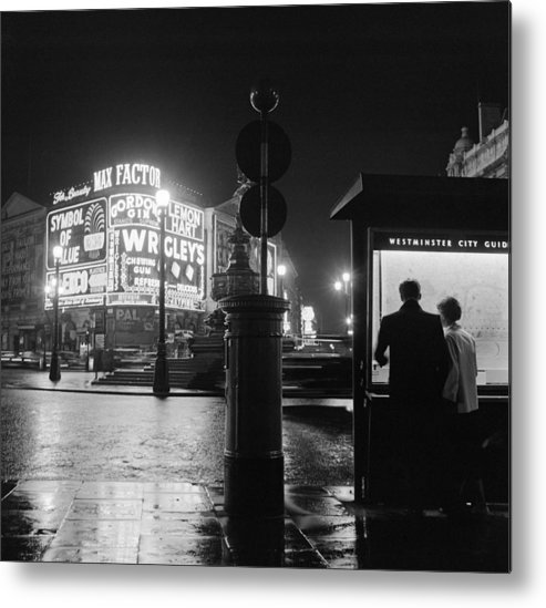 Heterosexual Couple Metal Print featuring the photograph City Of Westminster by Harry Kerr