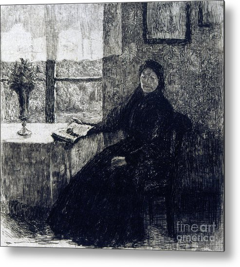 Etching Metal Print featuring the drawing Grandmother, 1909. Artist Alexandre by Print Collector