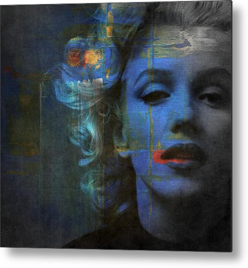 Monroe Metal Print featuring the mixed media Marilyn Monroe - Retro by Paul Lovering