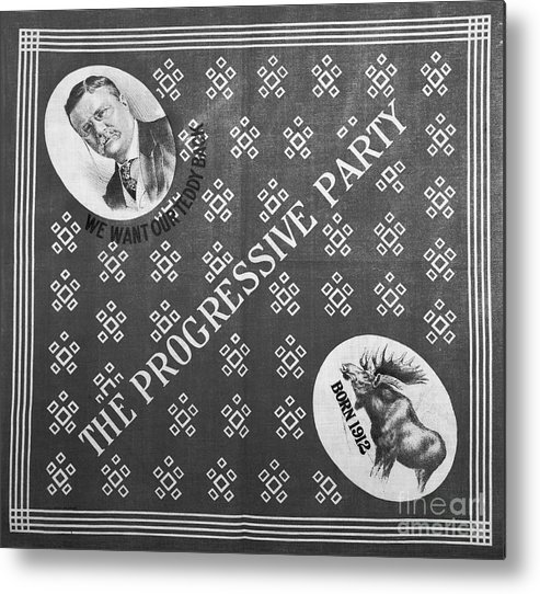 Art Metal Print featuring the photograph The Progressive Party Election Banner by Bettmann