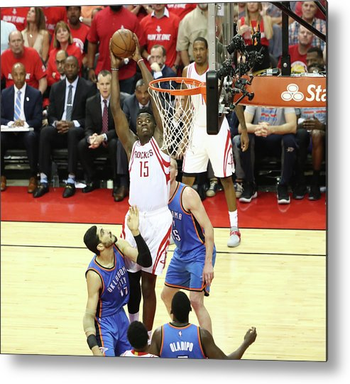 Playoffs Metal Print featuring the photograph Clint Capela by Nathaniel S. Butler