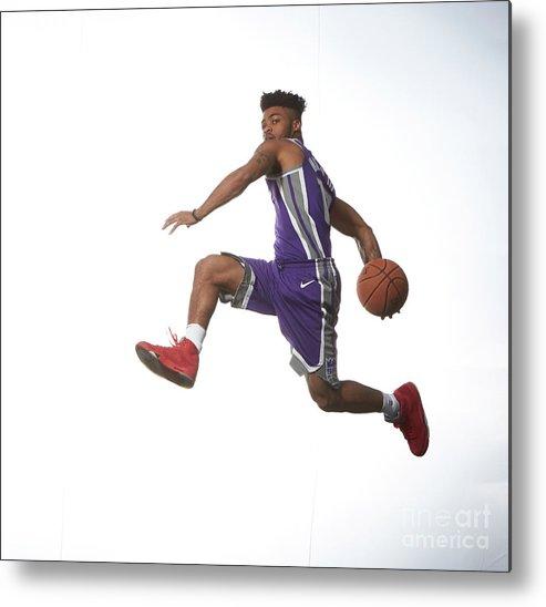 Nba Pro Basketball Metal Print featuring the photograph Frank Mason by Nathaniel S. Butler