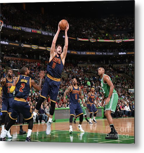 Nba Pro Basketball Metal Print featuring the photograph Kevin Love by Brian Babineau