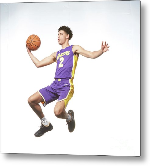 Nba Pro Basketball Metal Print featuring the photograph Lonzo Ball by Nathaniel S. Butler