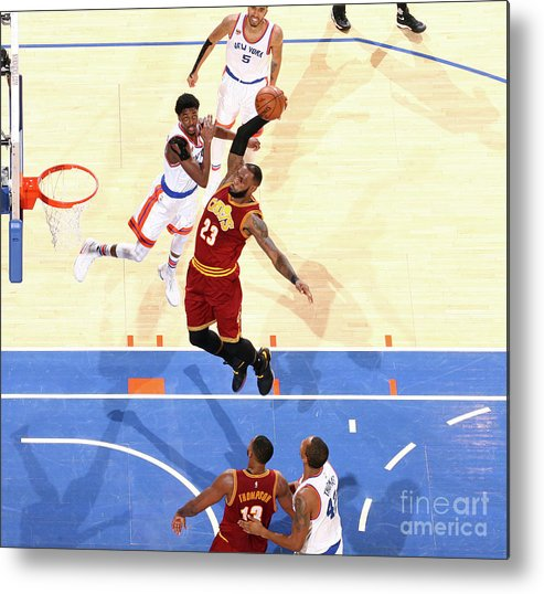 Nba Pro Basketball Metal Print featuring the photograph Lebron James by Nathaniel S. Butler