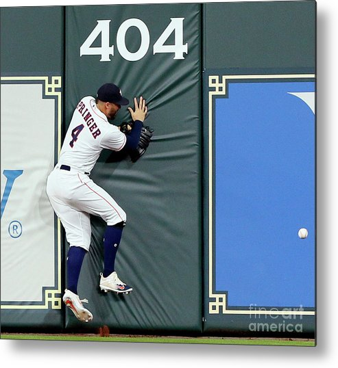 People Metal Print featuring the photograph Khris Davis and George Springer by Bob Levey