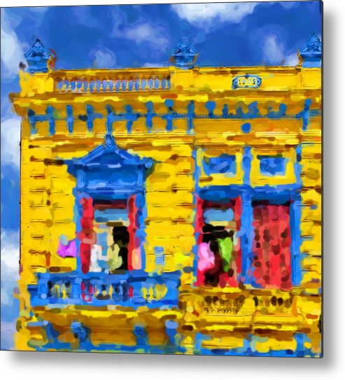 Buenos Aires Metal Print featuring the mixed media Buenos Aires by Asbjorn Lonvig