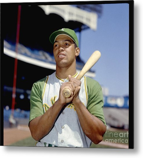American League Baseball Metal Print featuring the photograph Reggie Jackson by Louis Requena