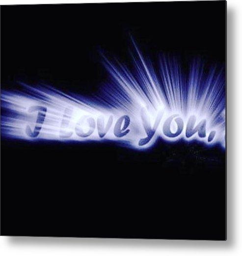Love Metal Print featuring the digital art Burst Of Love by Ariana Torralba
