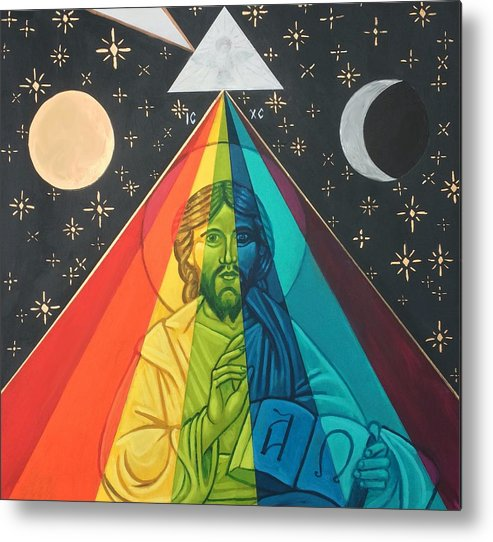 Metal Print featuring the painting Christ the Light by Kelly Latimore