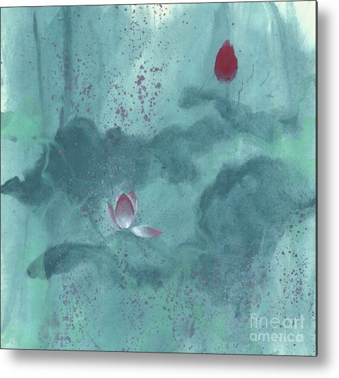 Emerged Out Of The Sludge Metal Print featuring the painting For the Love of Lotus by Mui-Joo Wee