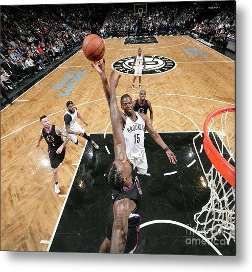 Nba Pro Basketball Metal Print featuring the photograph Isaiah Whitehead and Deandre Jordan by Nathaniel S. Butler
