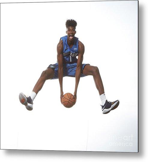 Nba Pro Basketball Metal Print featuring the photograph Jonathan Isaac by Nathaniel S. Butler