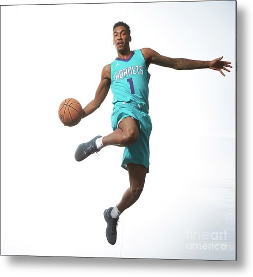 Nba Pro Basketball Metal Print featuring the photograph Malik Monk by Nathaniel S. Butler