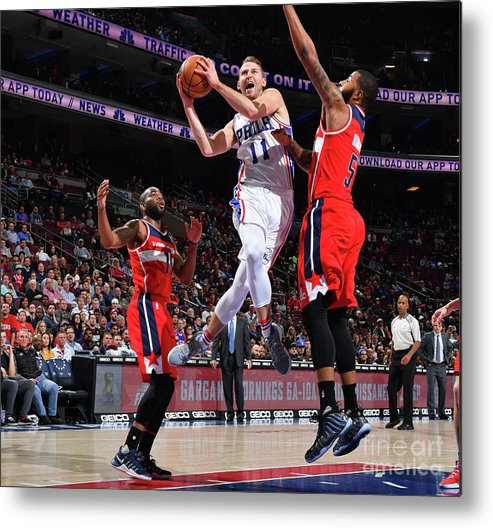 Nba Pro Basketball Metal Print featuring the photograph Nik Stauskas by Jesse D. Garrabrant