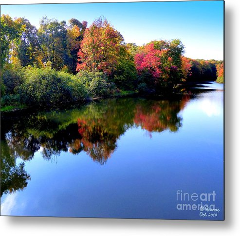 Landscape Metal Print featuring the photograph Fall Reflections by Rennae Christman