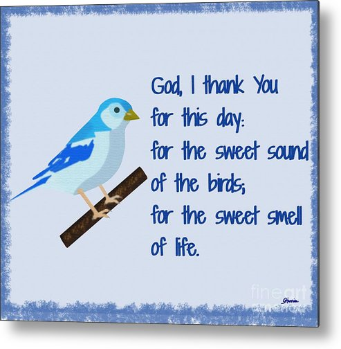 God I Thank You For This Day Metal Print featuring the painting God I Thank You for This Day by Pharris Art