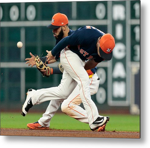 Alex Bregman Metal Print featuring the photograph Minnesota Twins v Houston Astros by Bob Levey