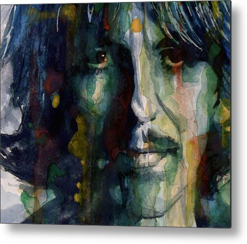 George Harrison Metal Print featuring the painting Within You Without You by Paul Lovering