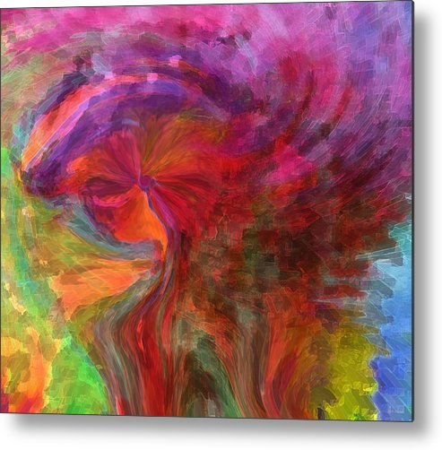 Woman Art Metal Print featuring the digital art Women by Linda Sannuti