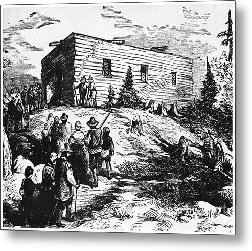 17th Century Metal Print featuring the photograph Colonial Meeting House by Granger