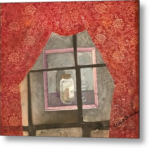 Abstract Metal Print featuring the painting A Toast by Leah Tomaino