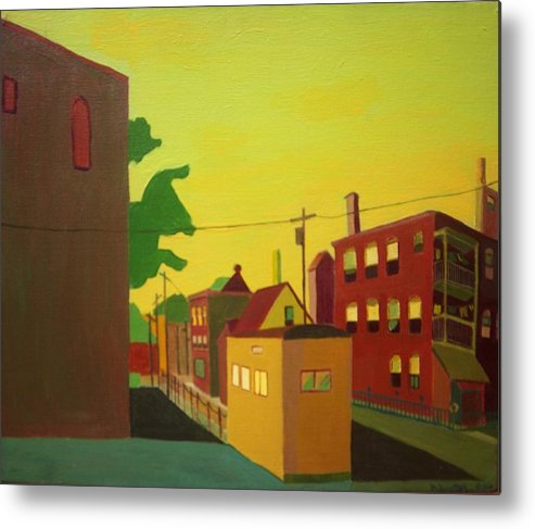 Jamaica Plain Metal Print featuring the painting Amory Street Jamaica Plain by Debra Bretton Robinson