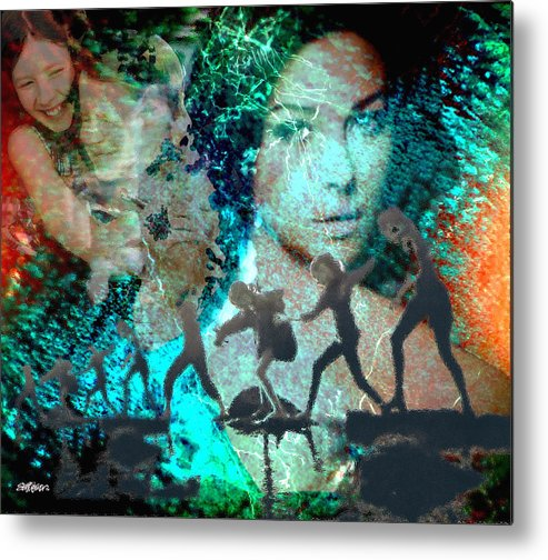 Childhood Metal Print featuring the digital art And that Reminds Me by Seth Weaver