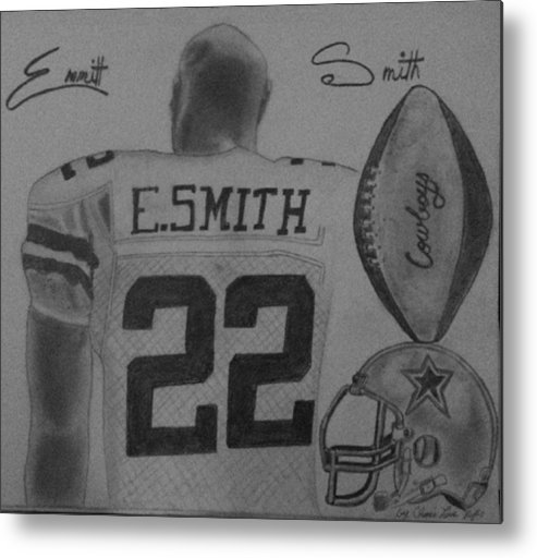 Emmit Metal Print featuring the painting Classic Football by Love Reyes