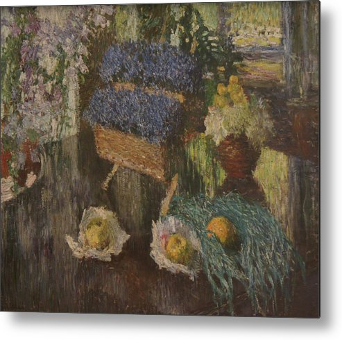 Russian Impressionism Metal Print featuring the painting Flowers and Fruits by Igor Grabar