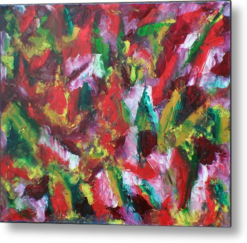 Color And Excitement Metal Print featuring the painting Fuoco by Biagio Civale