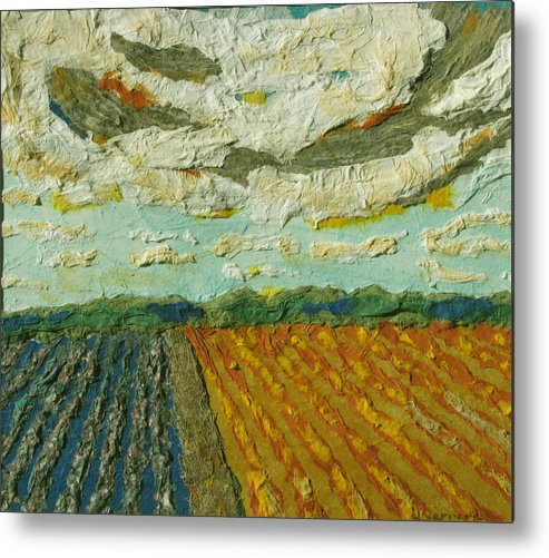 Summer Time Metal Print featuring the mixed media Harvest Time by Naomi Gerrard