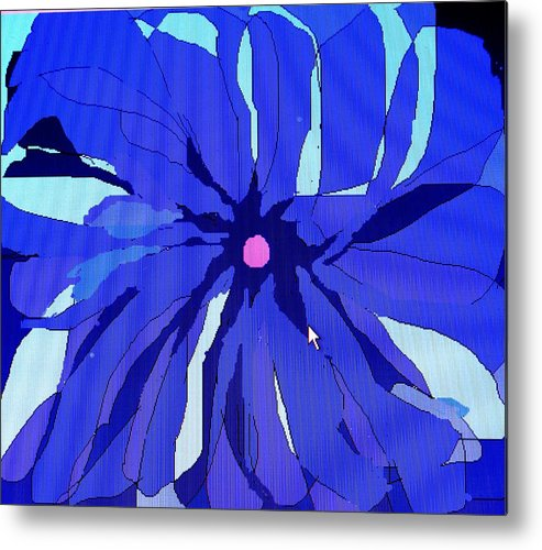 Flower Metal Print featuring the digital art My Fantastic Flower by Ian MacDonald