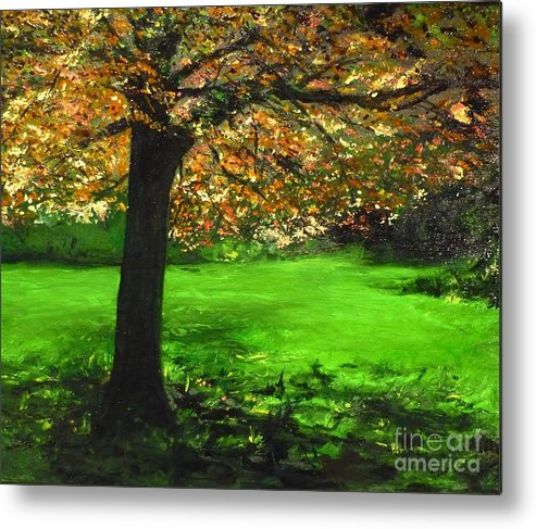 Spiritualism Metal Print featuring the painting My Love Of Trees I by Lizzy Forrester