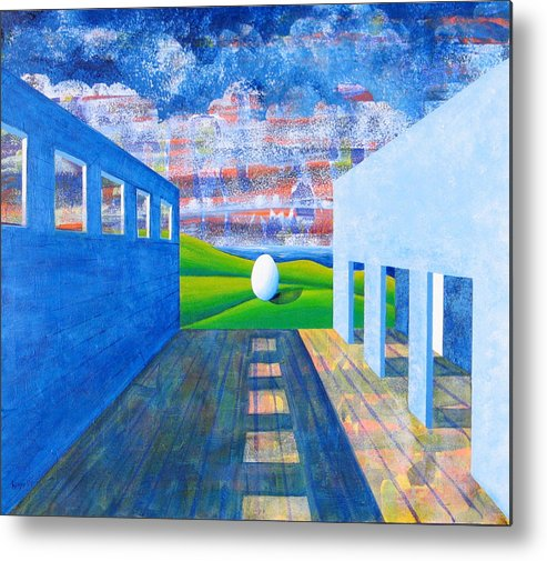 Surrealism Metal Print featuring the painting Mystery And Memory by Rollin Kocsis