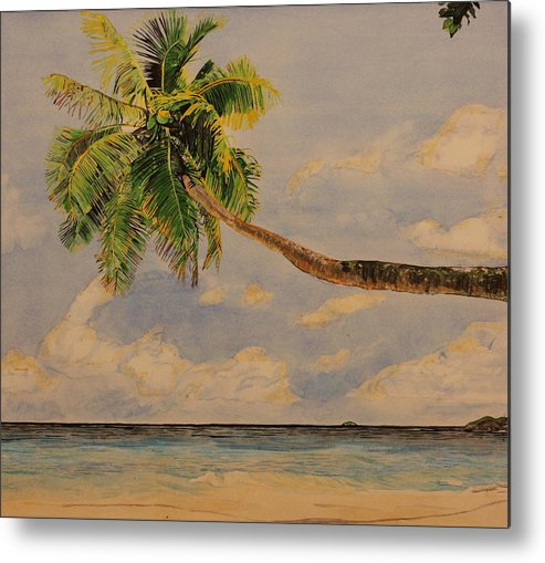 Palm Tree Metal Print featuring the painting Palm Tree by Michelle Miron-Rebbe