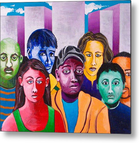 People Metal Print featuring the painting Parade II by Rollin Kocsis
