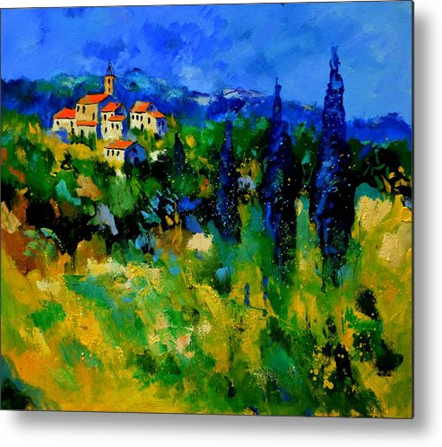 Landscape Metal Print featuring the painting Provence 768110 by Pol Ledent